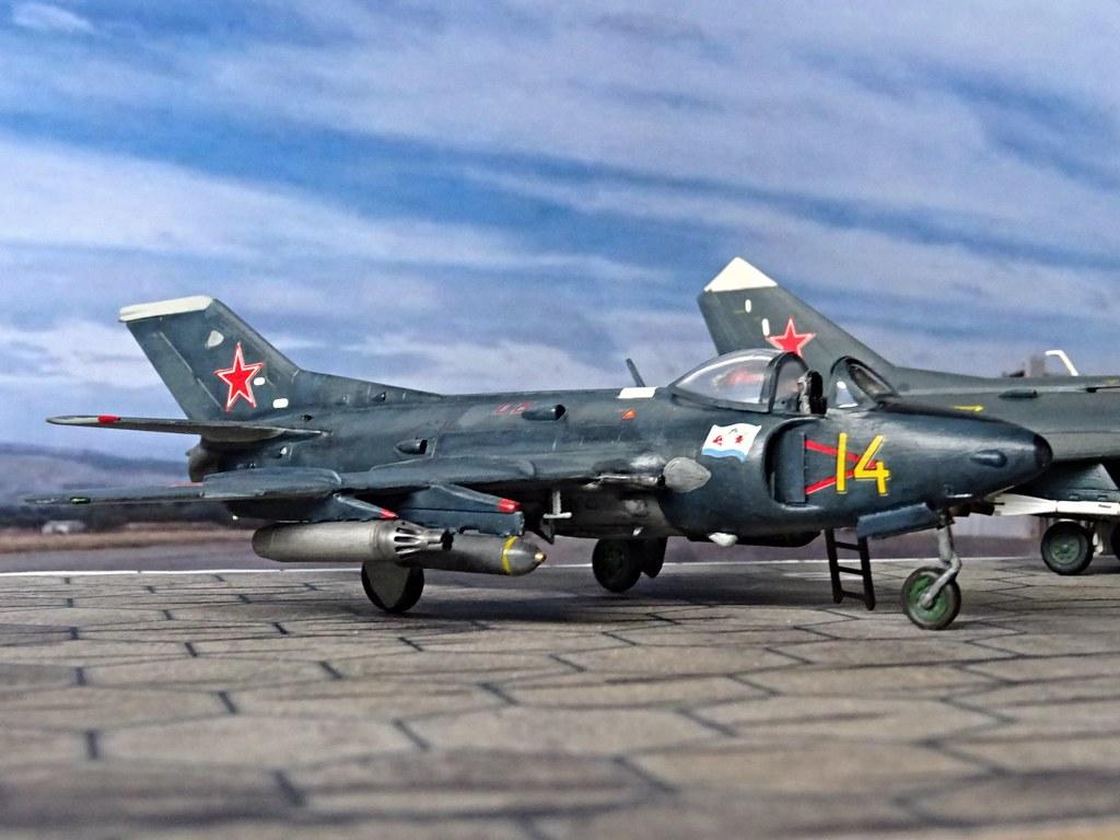1:72 MiG-SK, '14 Yellow' of the 100th Shipborne Fighter Aviation Regiment, Soviet Naval Aviation (Авиация военно-морского флота; Aviacija vojenno-morskogo flota), Kaspiysk AB (Dagestan region), 1970 (Whif/Kitbashing)