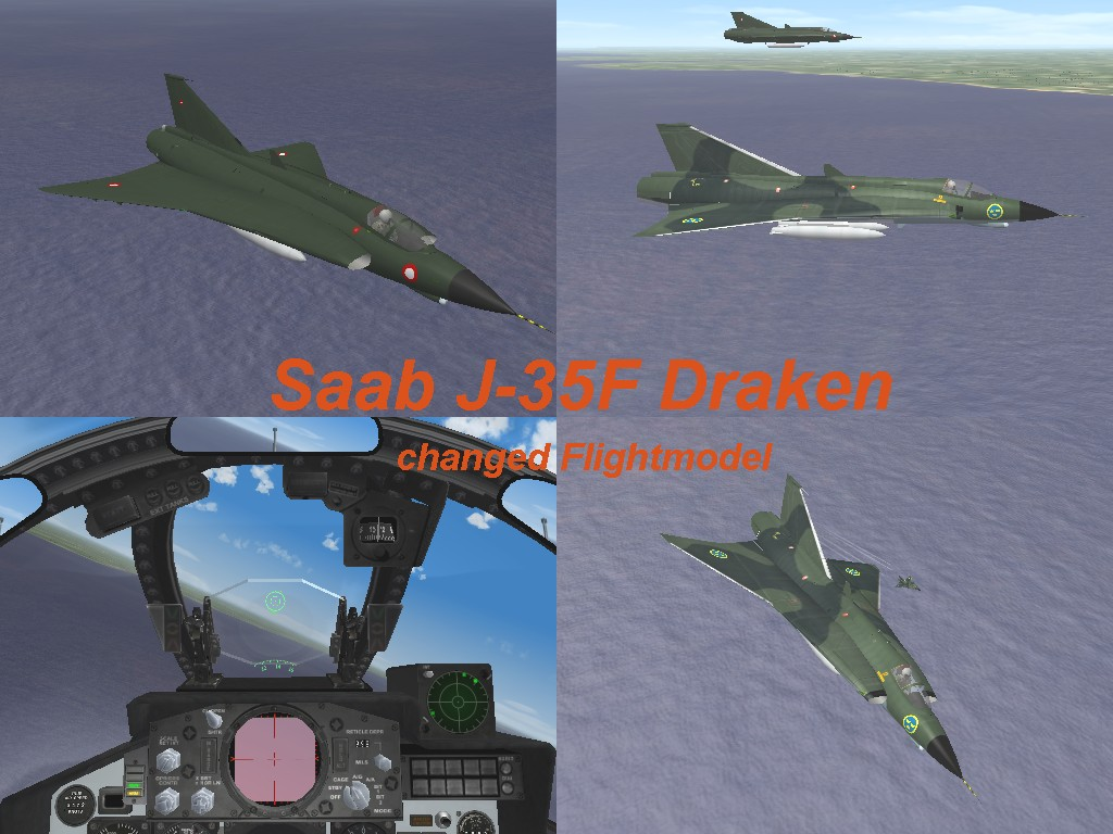 Saab J-35 Draken with changed Flightmodel for oct2008 patch