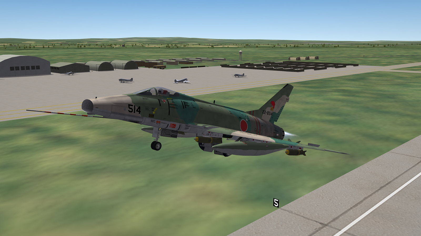 [Fictional] North American F-100DJ Super Sabre for STRIKE FIGHTERS 2