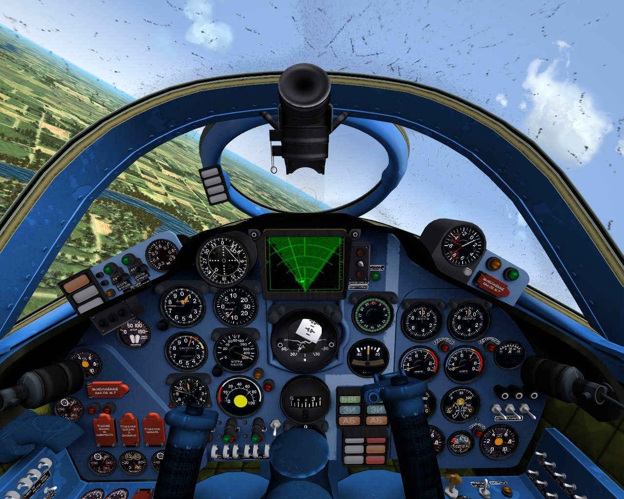 Yak-28B Brewer stand-in cockpit