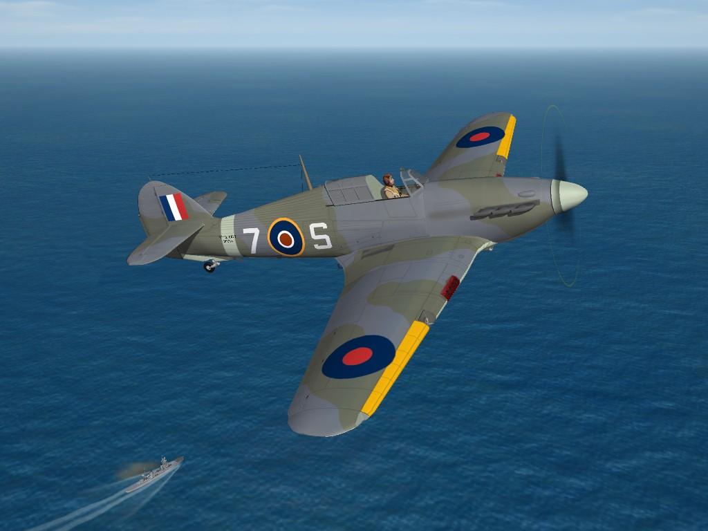 SF2 WW2 Hawker Sea Hurricane IA 880 NAS Skin/Decal Set