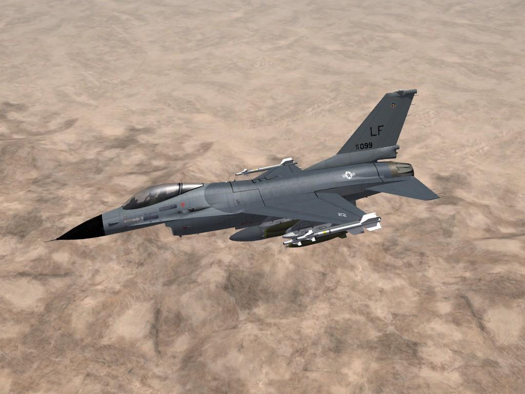 F-16A Falcon, Generic USAF/NATO Gray Skin/Decal/Ini Pak