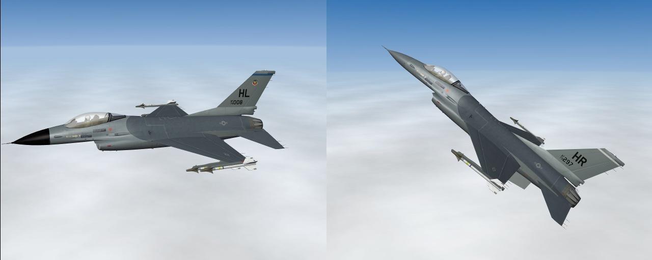 Pack 4 Hi Res F-16A USAF