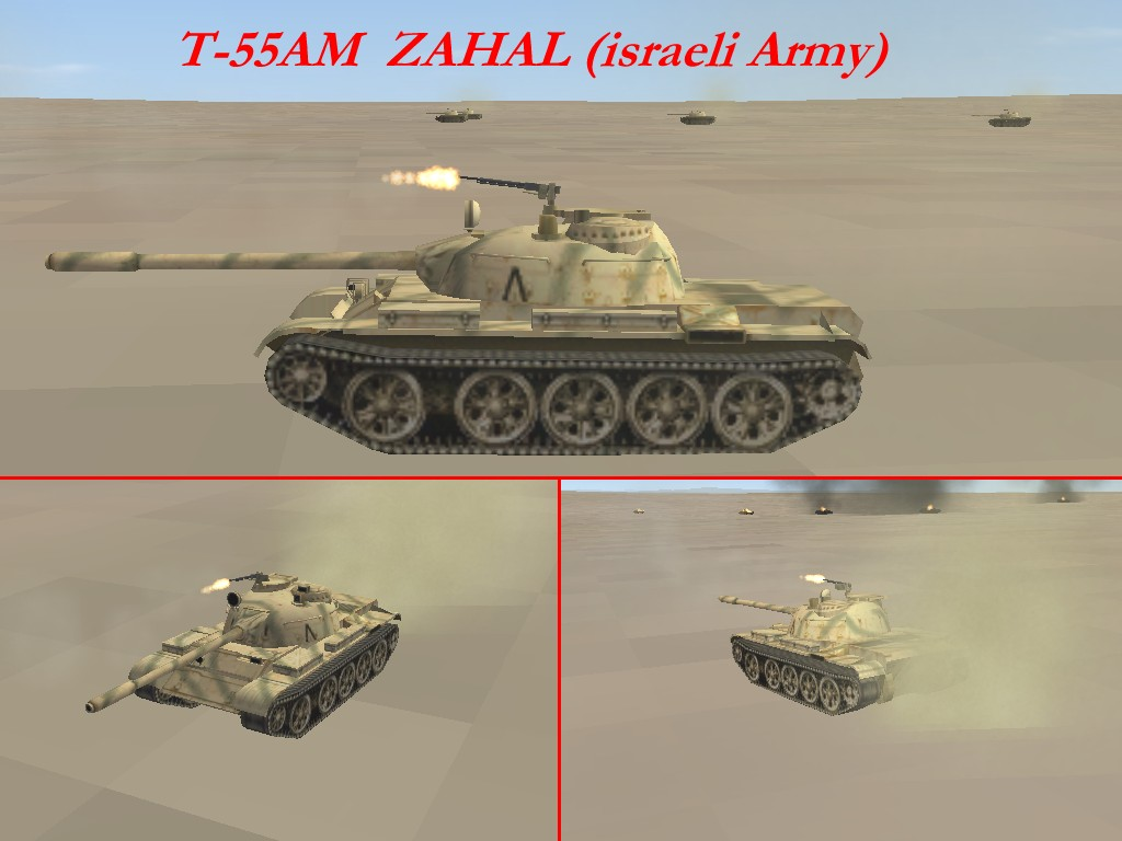 T-55AM Panzer of ZAHAL (israelie Army)