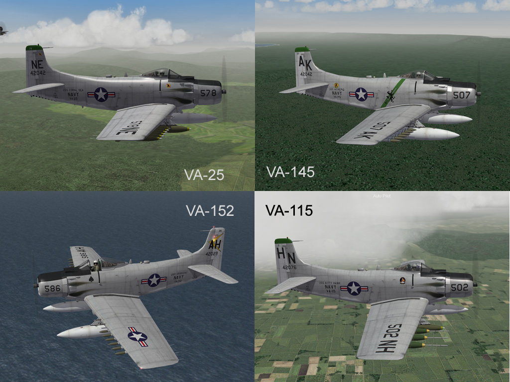 3rdW A-1J Skyraider, Skins and Ini Update Pak