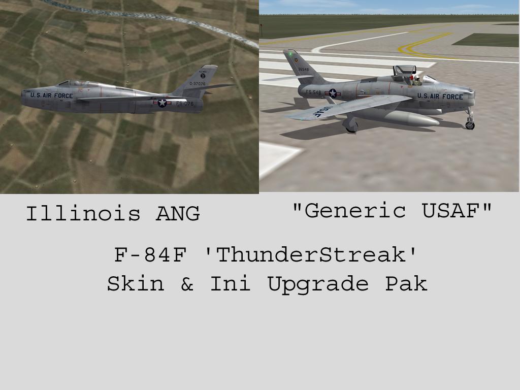 F-84F Thunderstreak Skin & Inis Upgrade Pak
