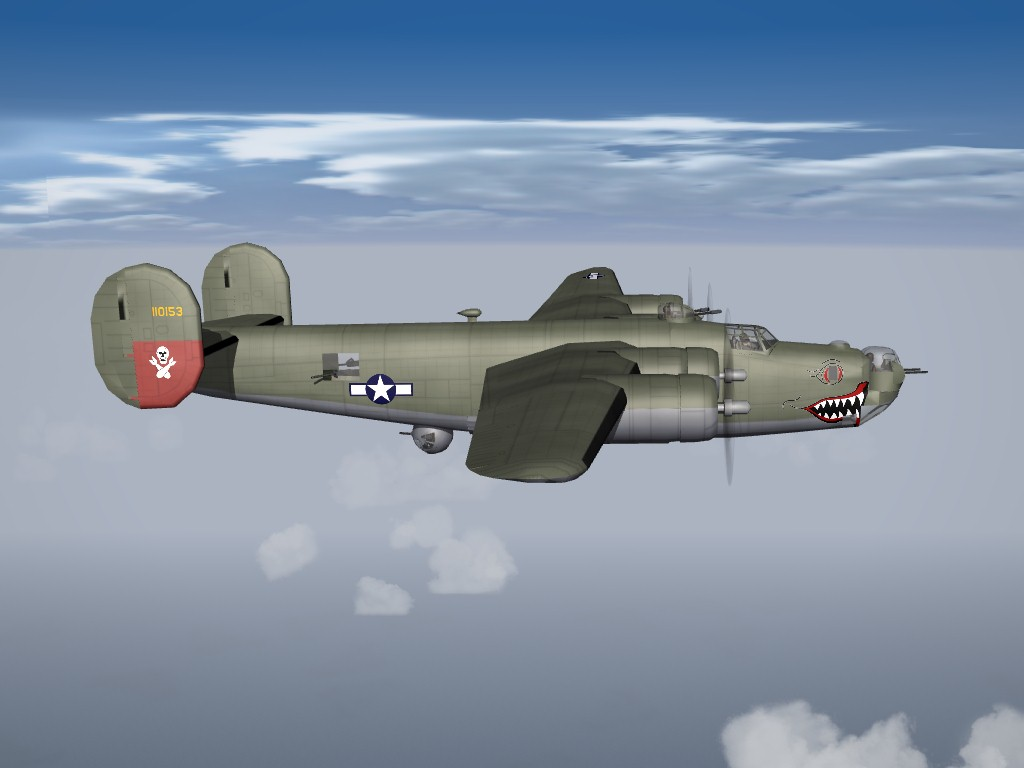 SF2 WW2 B-24J PTO Skins/Decals Pak
