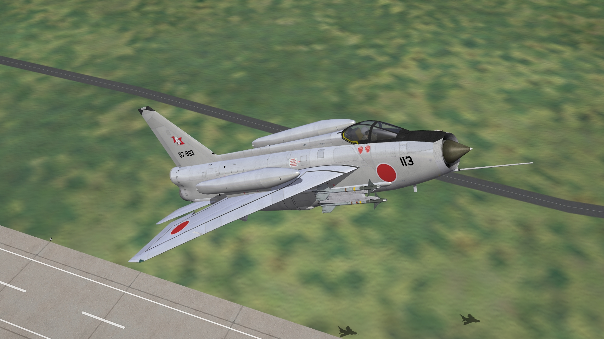 English Electric/Mitsubishi F-6J Lightning for STRIKE FIGHTERS 2