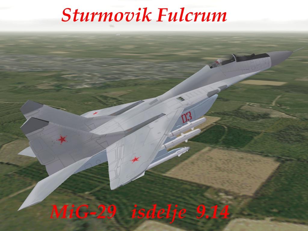 MiG-29 isdelije 9.14 Sturmovik Fulcrum