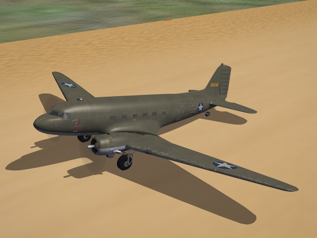 SF2 WW2 C-47 Skytrain