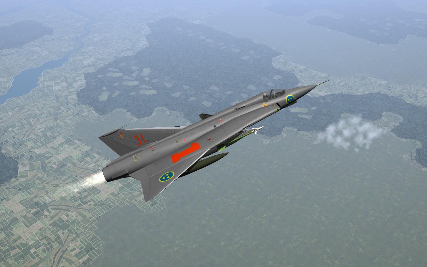 TSF J 35 Draken Flygvapnet Package