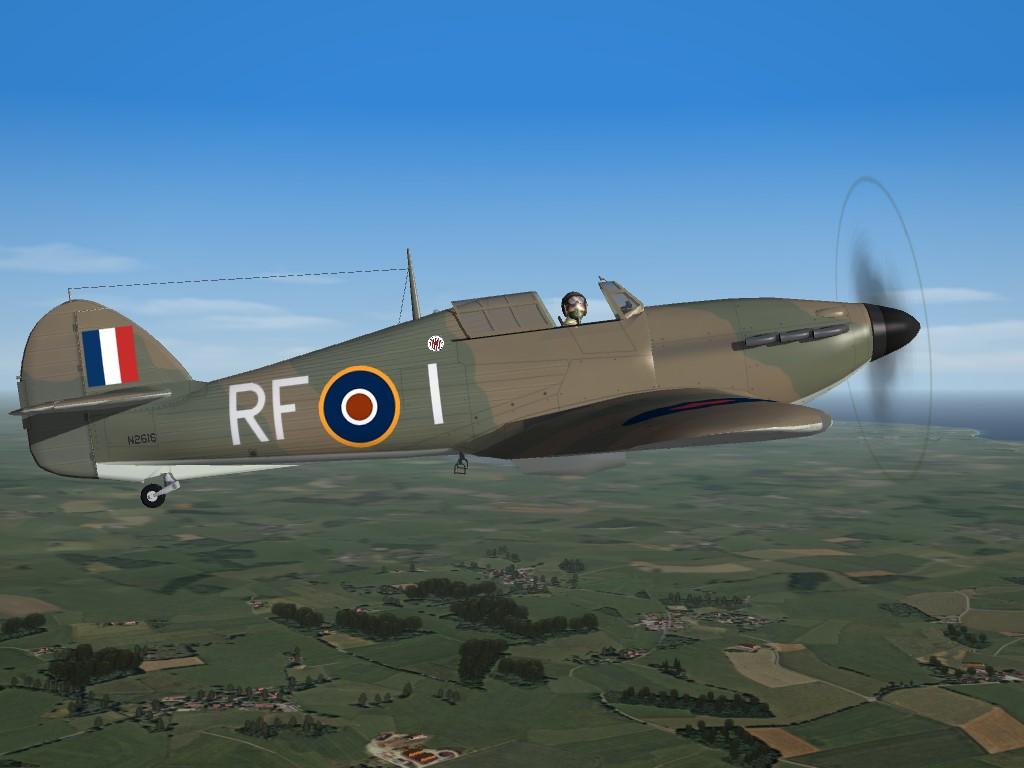 SF2 WW2 ETO BoB Hurricane 1A, 303 Squadron Skin