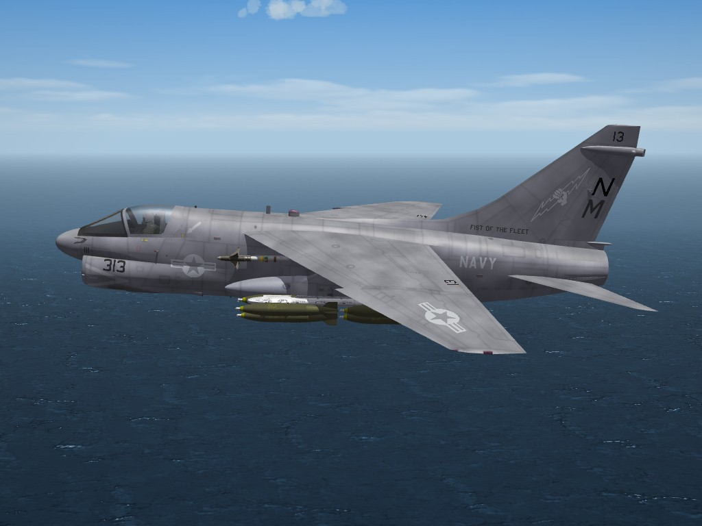 A-7E(74) Lo-Viz Skin/Ini Pak for SF2/SF2NA