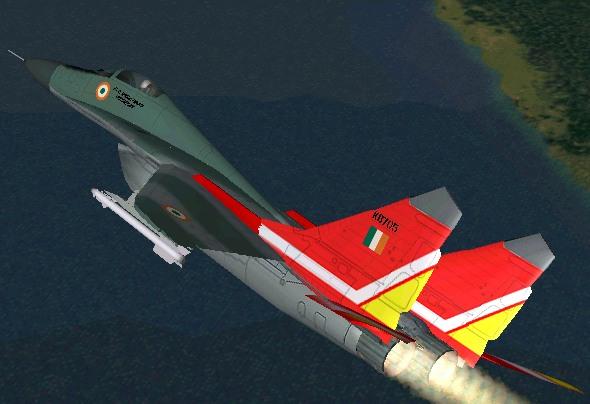 "MiG-29A Fulcrum Indian Air Force No. 28 Sqdn ""First Supersonics&a"