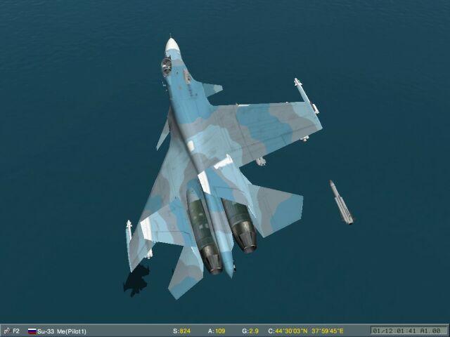 Su-33 Kh-41 antiship training