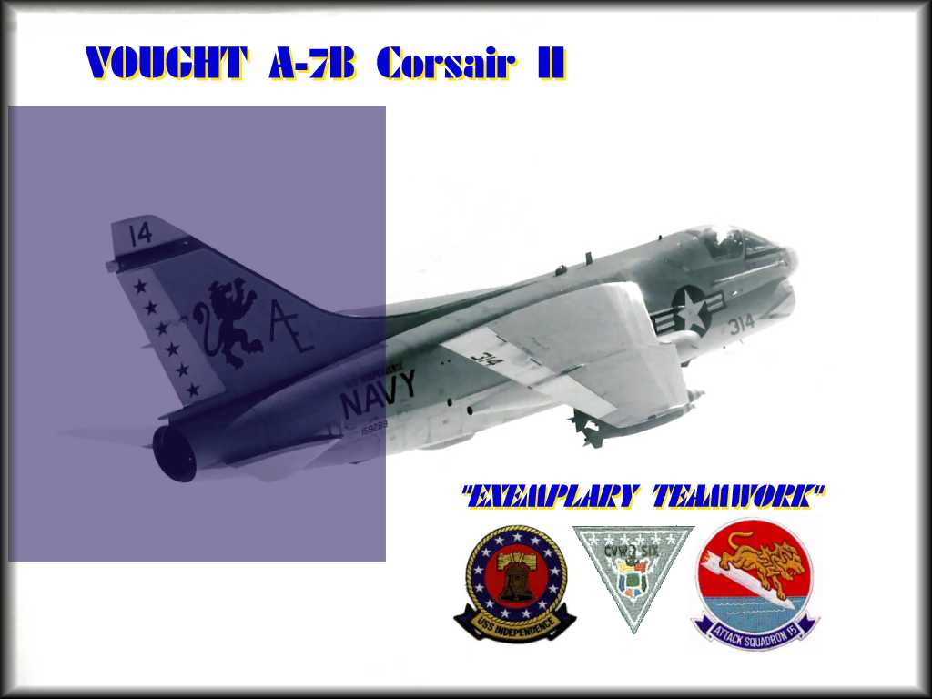 A-7B Corsair II Hangar Screen pack