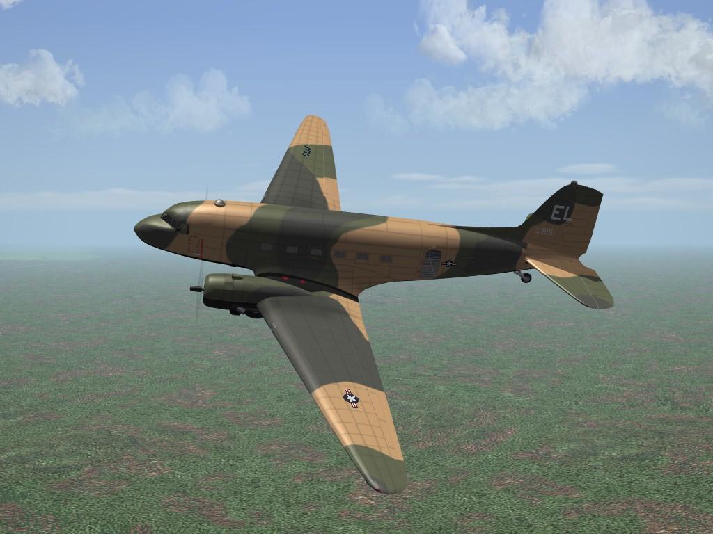 """Douglas AC-47 """"Spooky"""" Gunship for SF2 - Ver.2"""