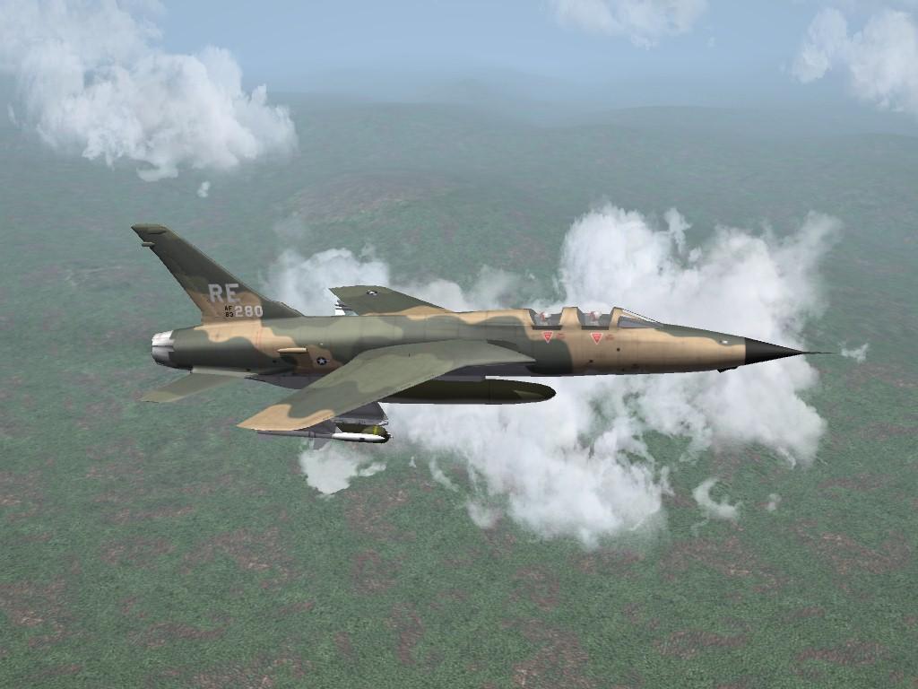 SF2 Republic F-105F/EF-105F Thunderchief Pak by ArmorDave