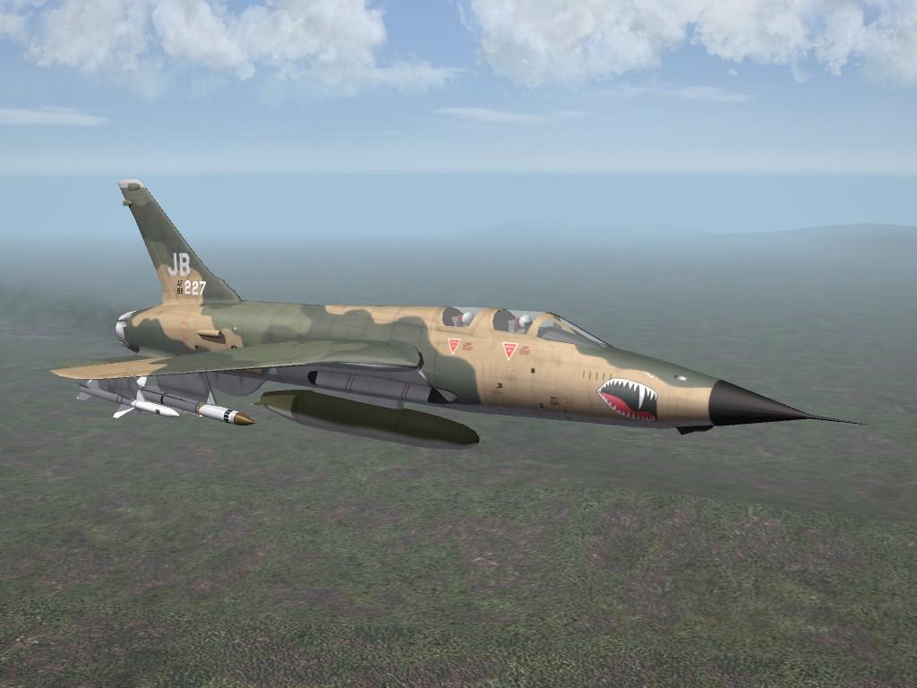 SF2 Republic F-105G Thunderchief Wild Weasel by ArmorDave