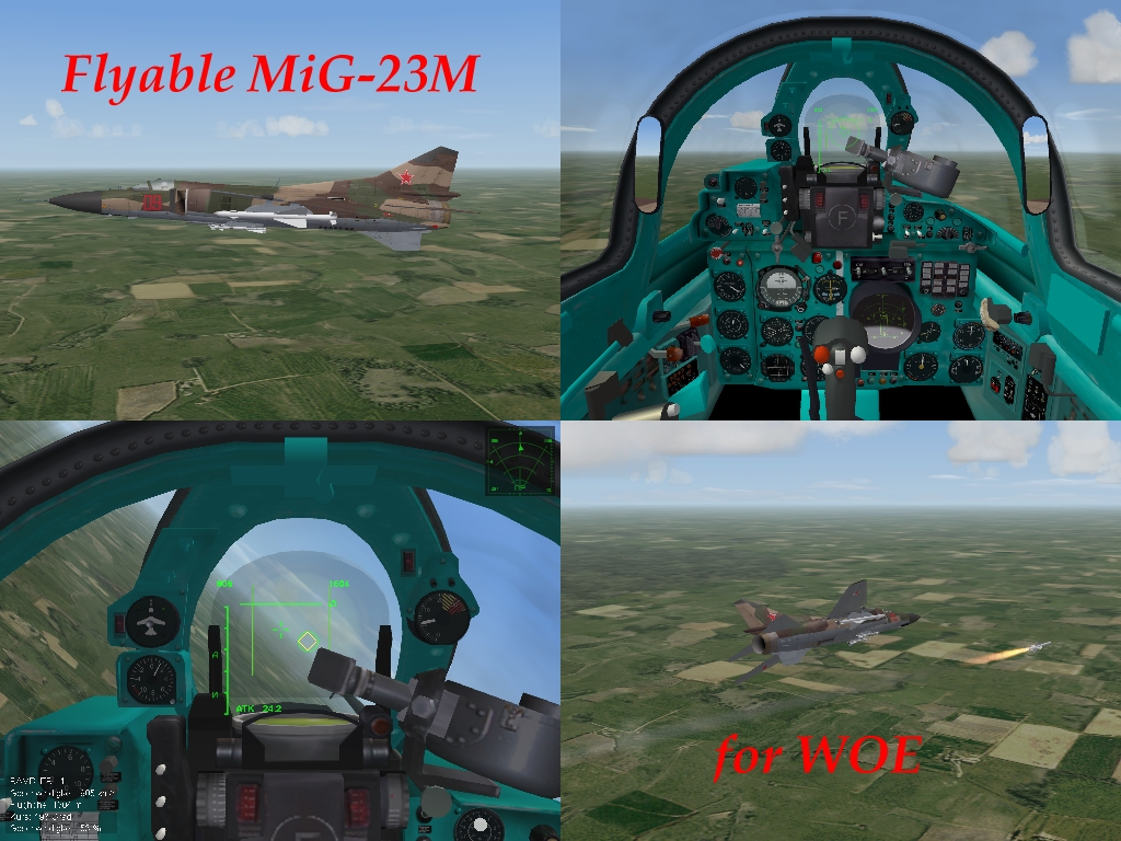 flyable stock MiG-23M for WOE