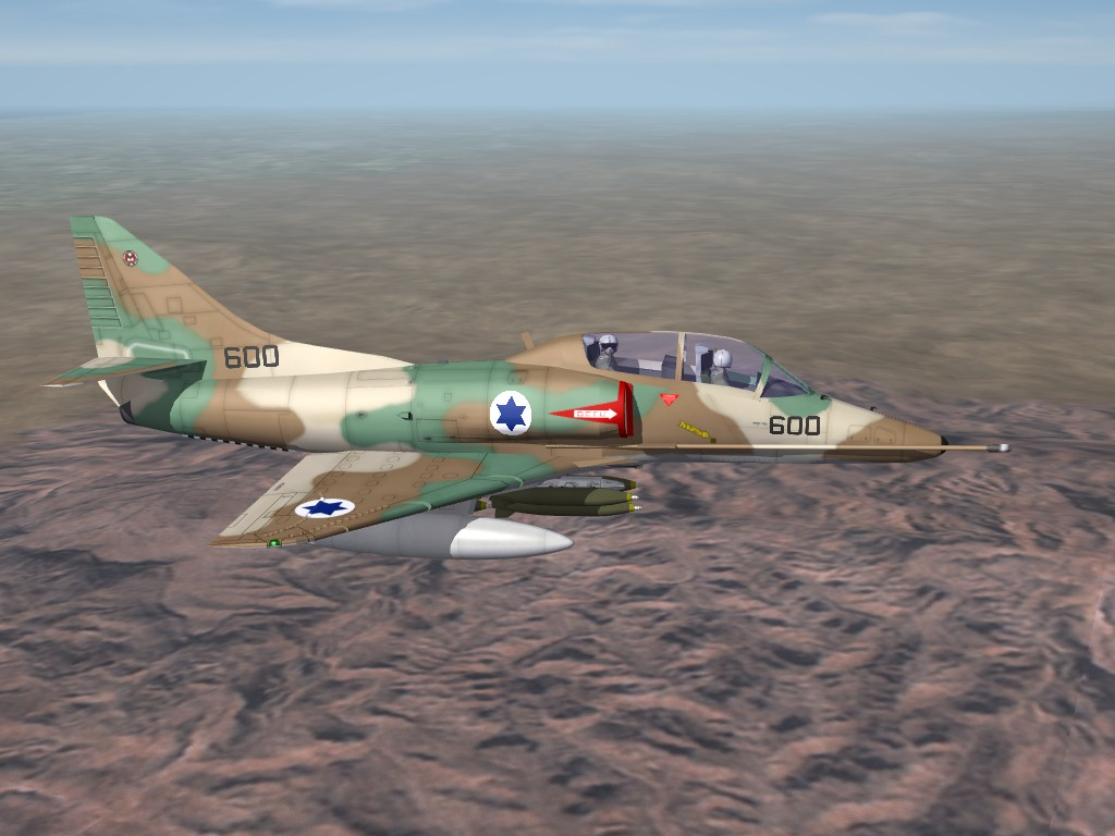 IDF TA-4H Skyhawk by pappychksix/fracture