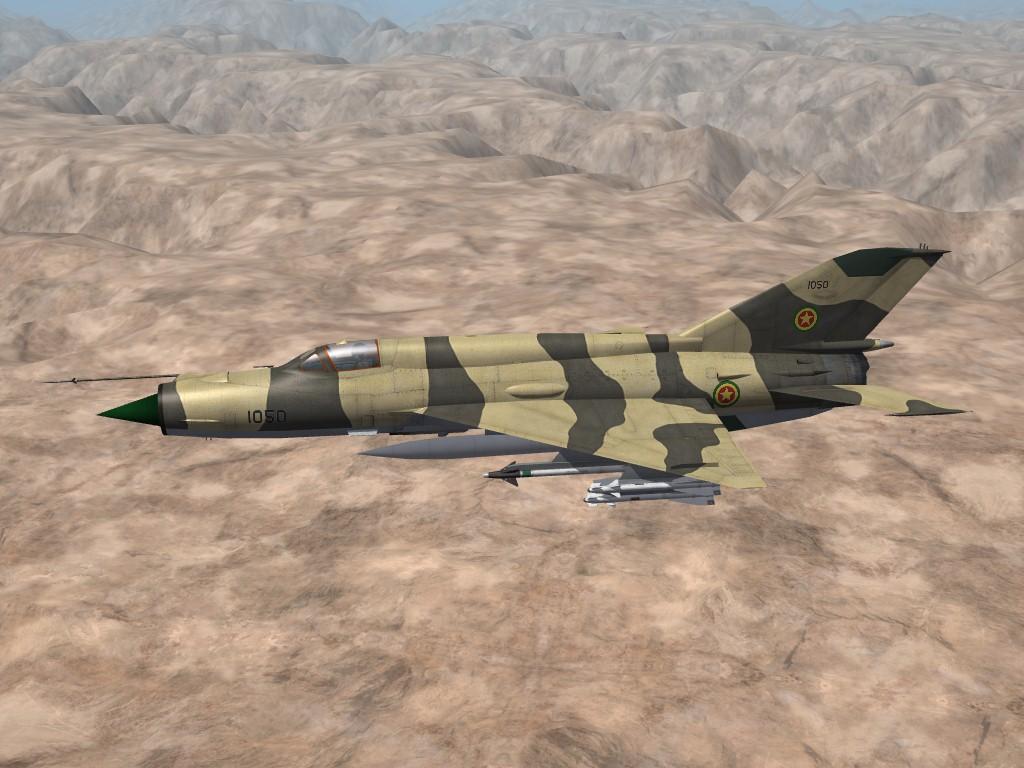 Ethiopian AF MiG-21MF Fishbed-J