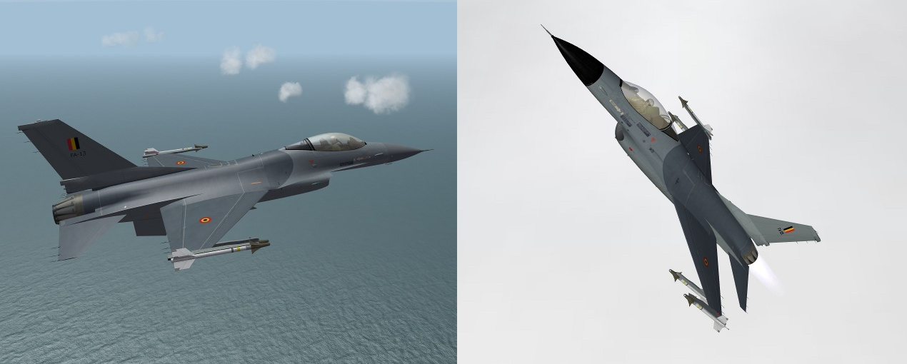 Pack 1 Hi Res F-16A Belgian AF (BAF)