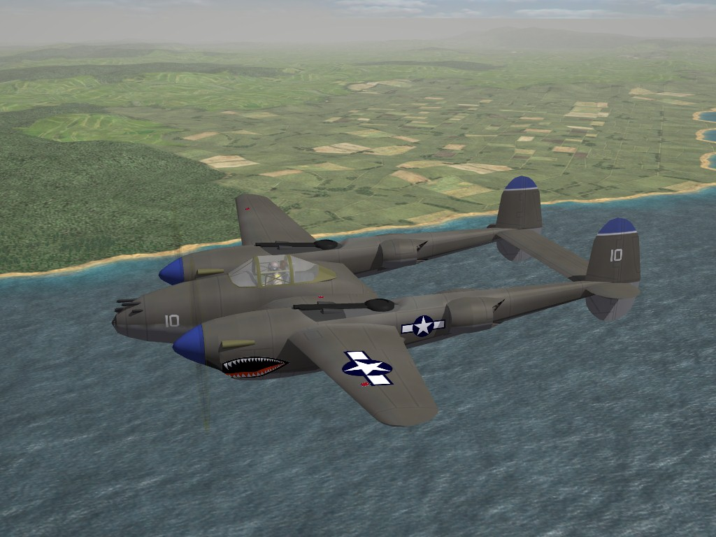 SF2 WW2 PTO P-38 Lightning Pak