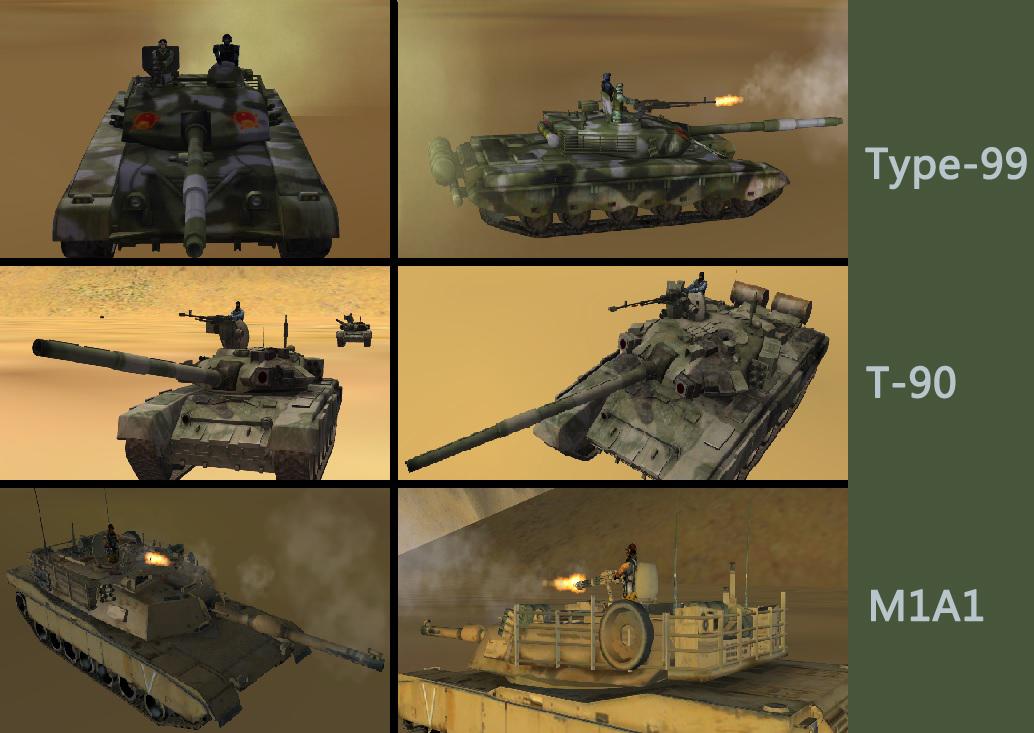 M1A1 Type-99 T-90  Tank
