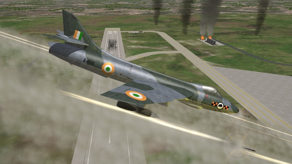 Indian Air Force Hawker Hunter F.56, F.56A mod for SF2 full merged