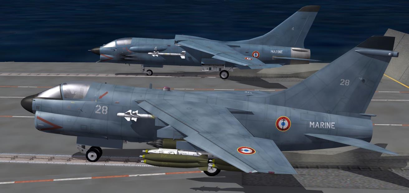 A-7E French Navy Blue 'What-If' Skin for SF2