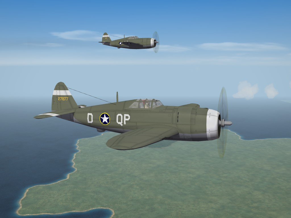 SF2 WW2 ETO P-47C/D, 334th FS, 4th FG Skinpak