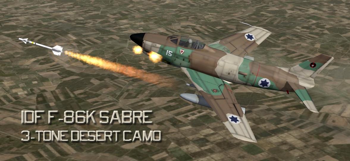 F-86K IDF 'What-If' 3-Tone Camo Skin