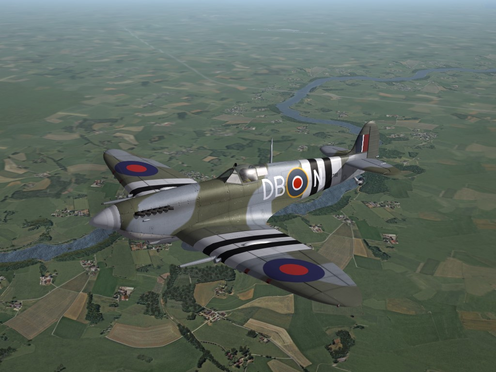 """SF2 WW2 ETO, """"D-Day"""" Spitfire IX Blank Skin set"""