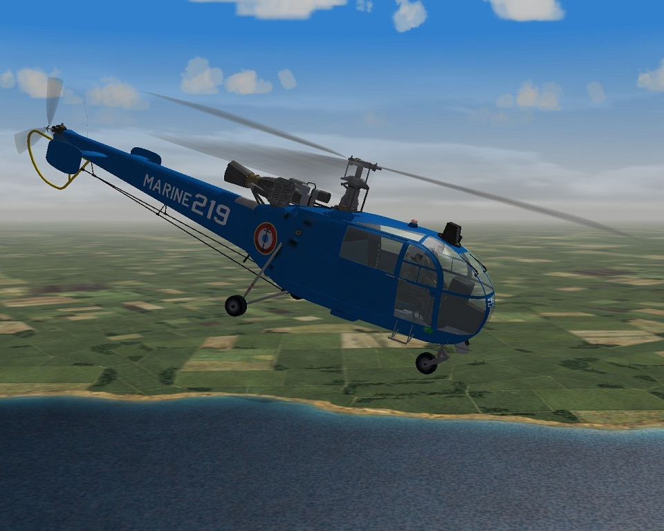 Alouette III French Navy Skin