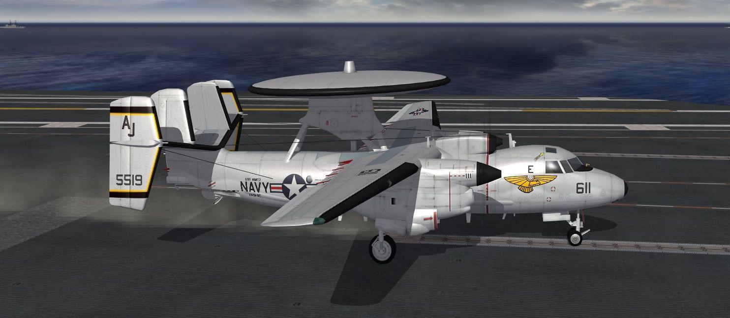 VAW-112 Golden Hawks Skin for the E-2C