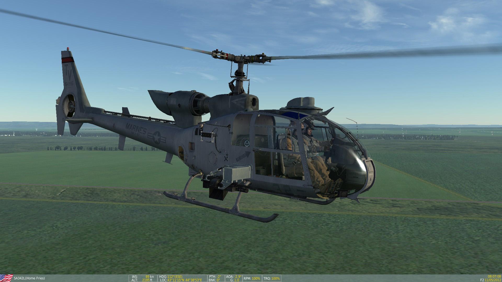 """SA342 USMC HMLA-167 """"Warriors"""" Skin Pack"""
