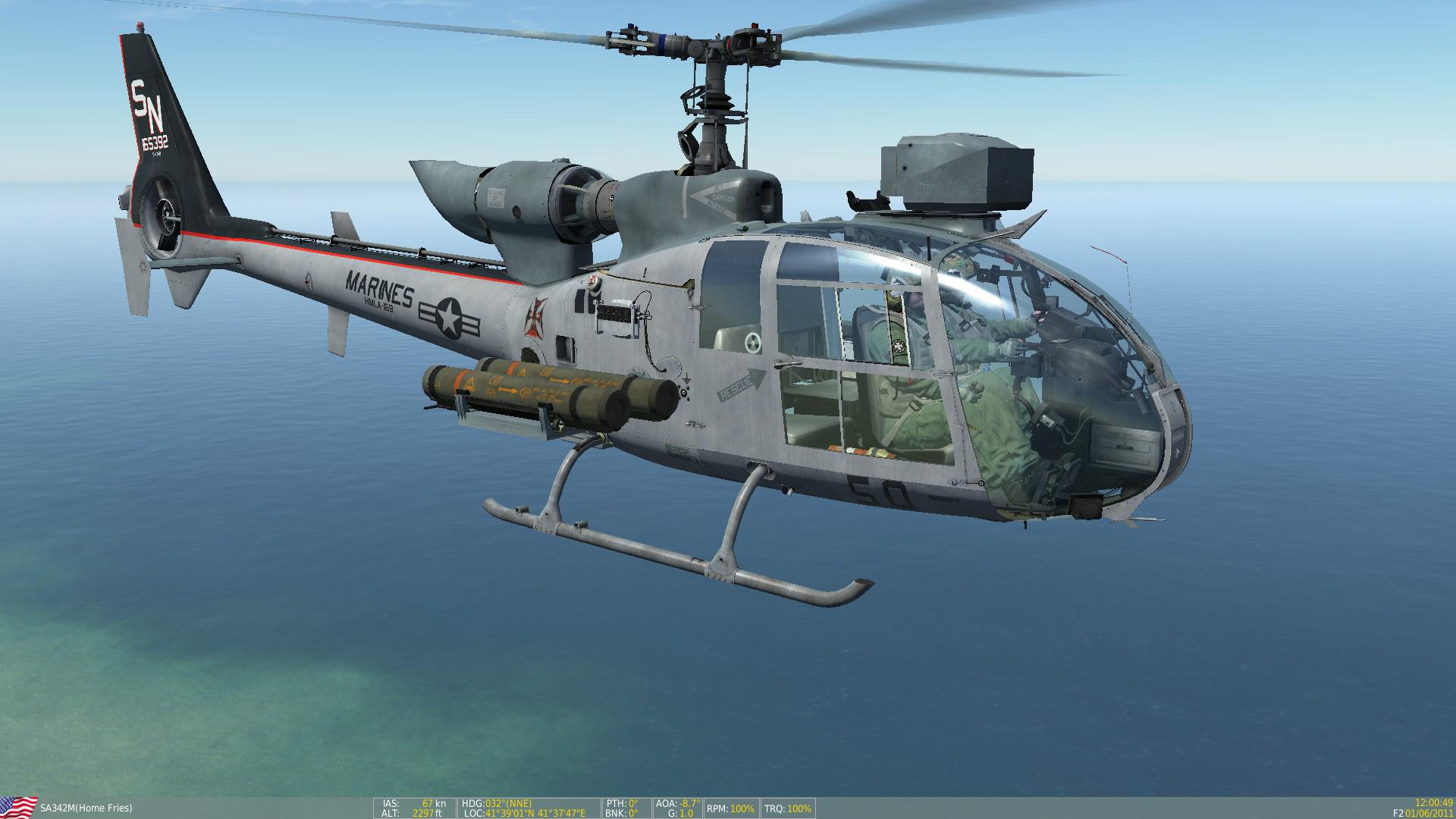 """SA342 USMC HMLA-169 """"Vipers"""" Skin Pack"""