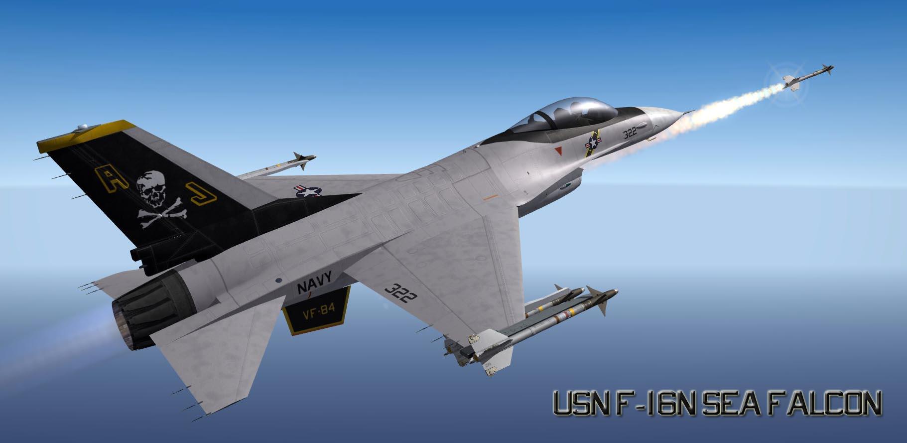 """USN F-16N Sea Falcon """"What-If' Skin"""
