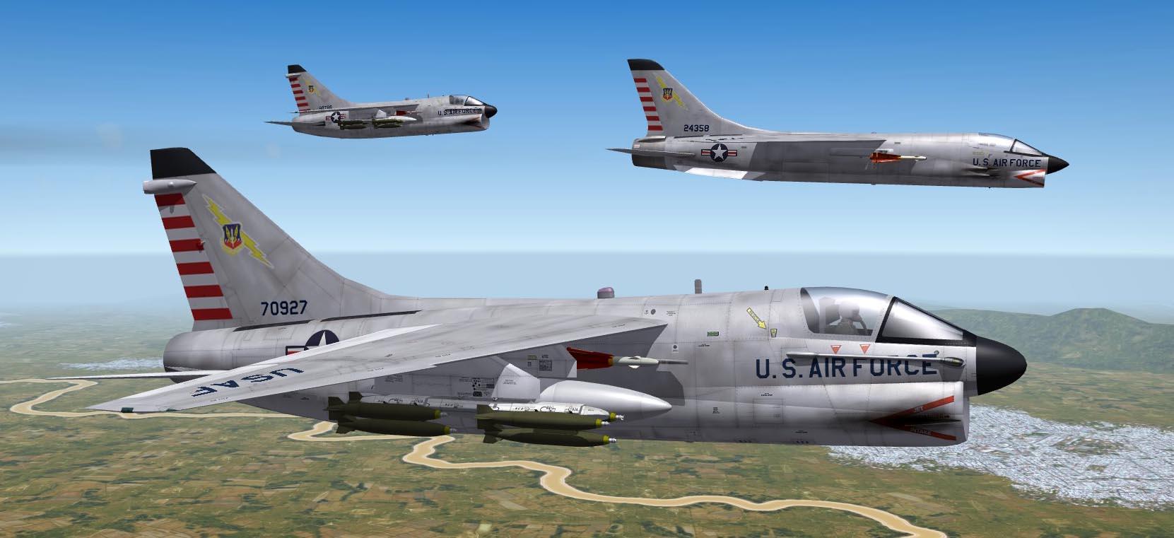 A-7A & F-8A Fictional 1963 Skins