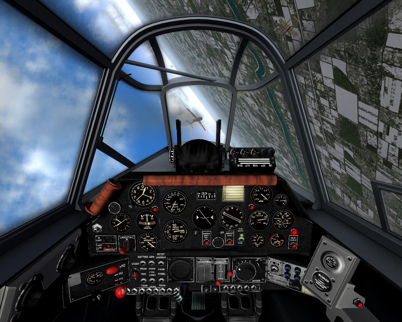 SAAB J-21A-3 cockpit