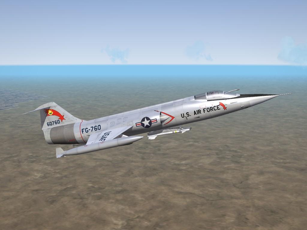 SF2 DLC #28: F-104C (61) Starfighter Skins/Ini Pak, Part 1