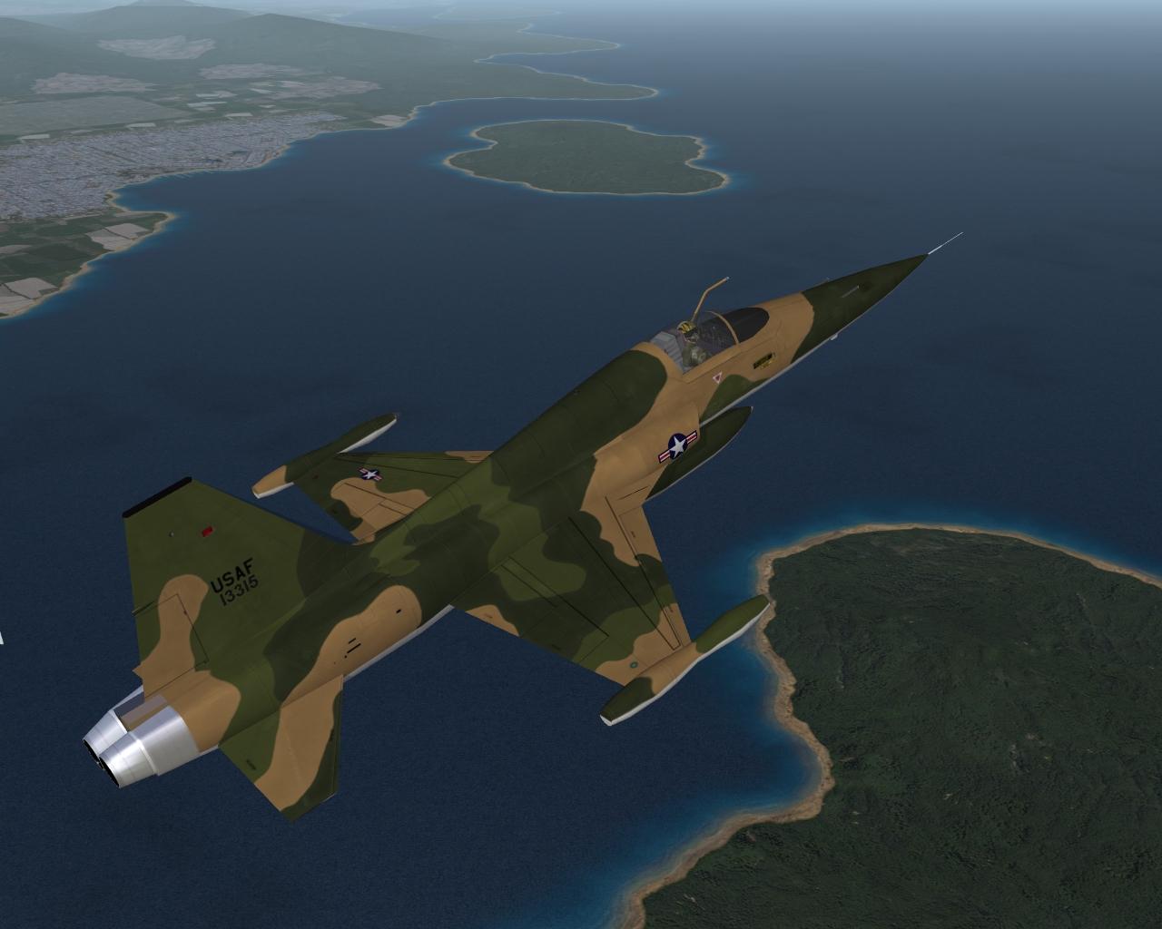 F-5C USAF Skoshi Tiger skin
