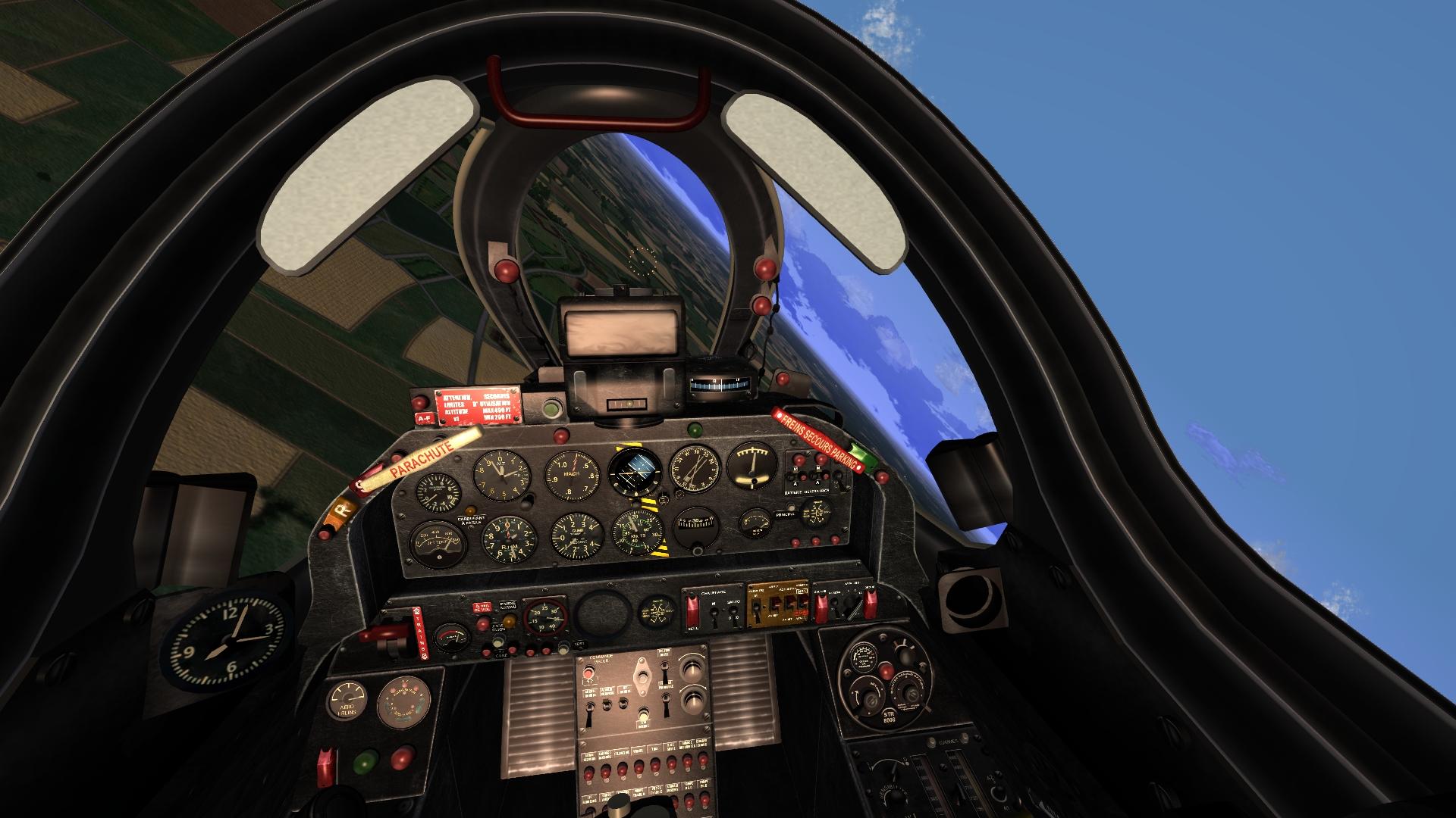 Super Mystere B2 cockpit