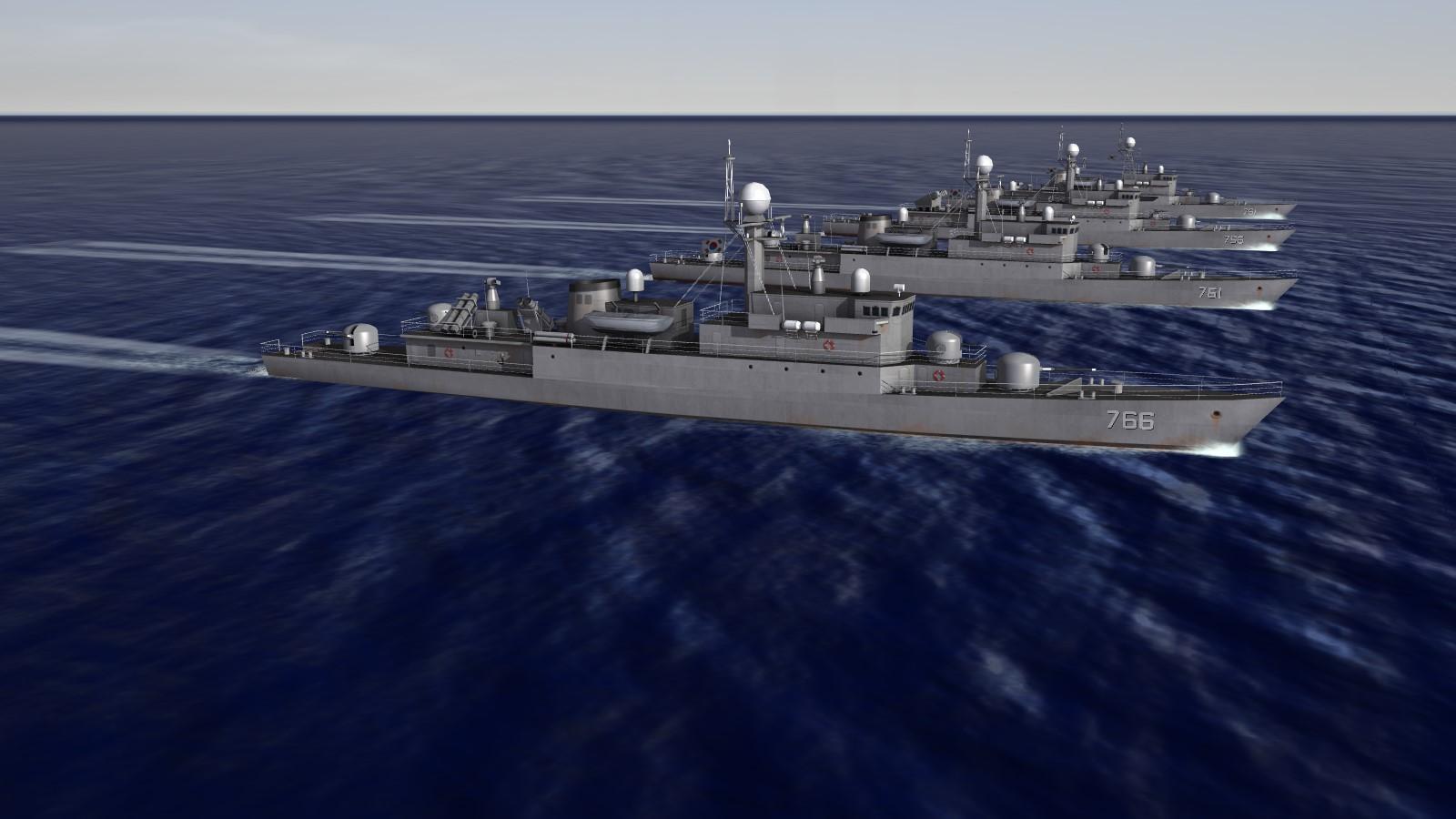 Republic of Korea Navy corvette pack