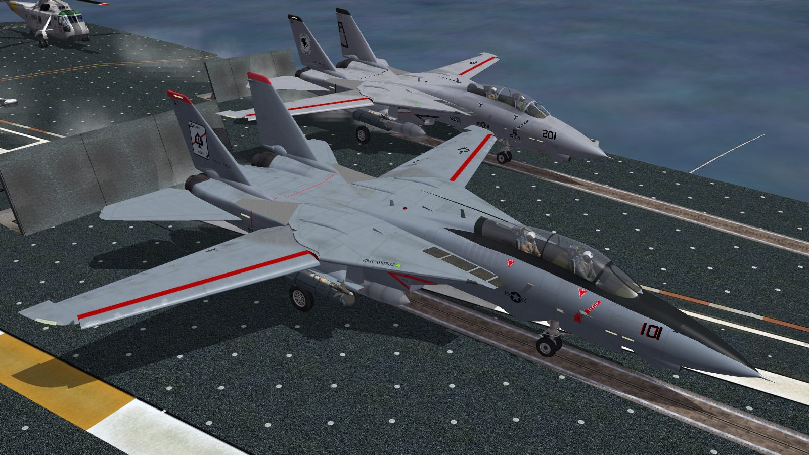 VF-41 and VF-14 F-14A