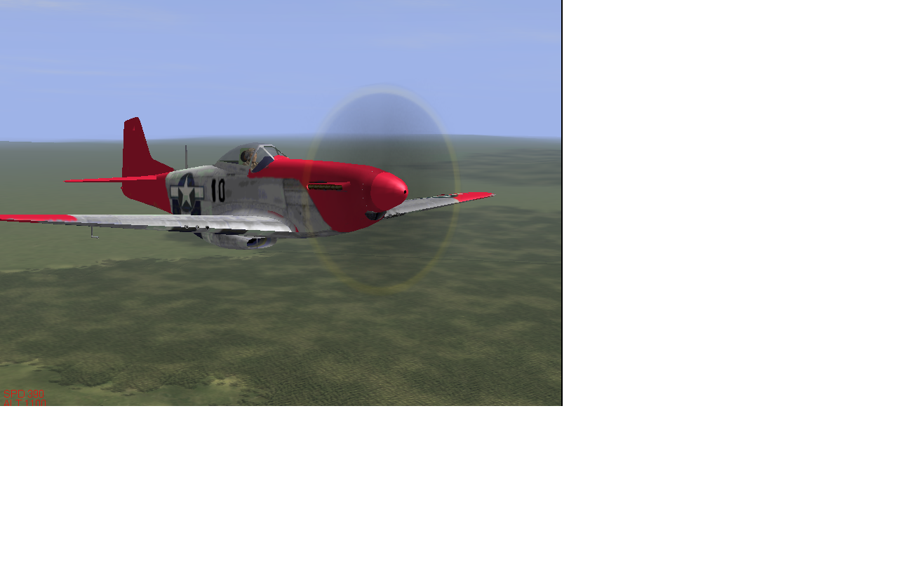 """Skin for P-51d mustang """"Red Tails"""""""