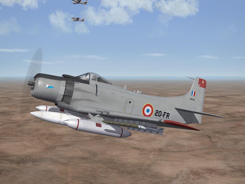 SF2 AD-4N/NA Skyraider, Armée de l'Air