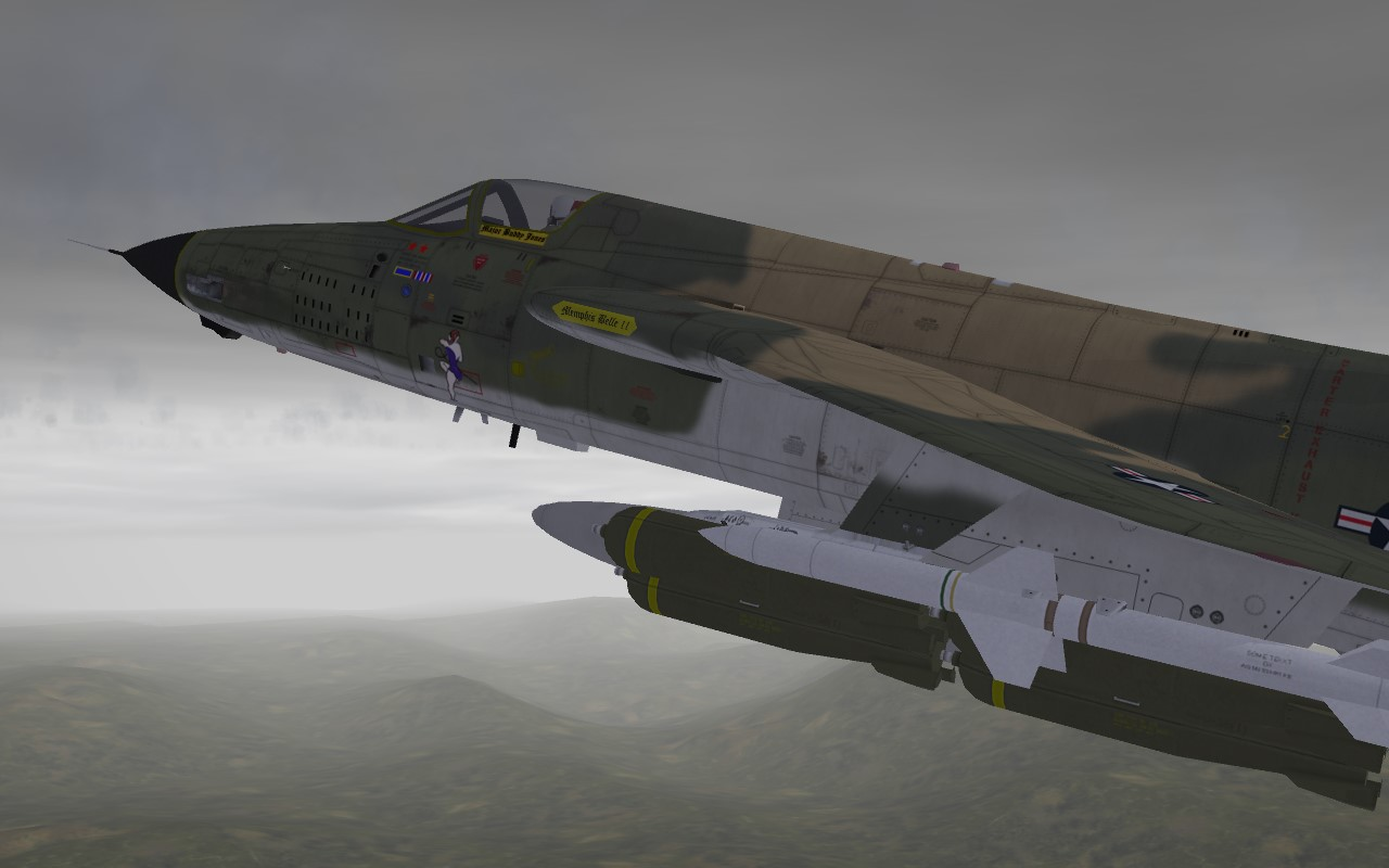 "F-105D nose art ""Cherry Girl"" and ""Menphis Belle II"""