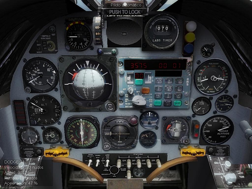 A-4C_A Malvinas/Falklands cockpit